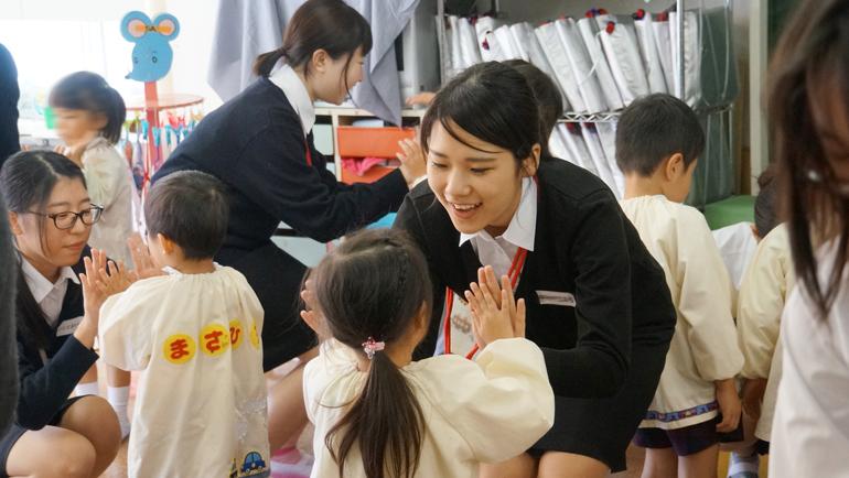 1年生が附属幼稚園見学実習① 第二幼稚園