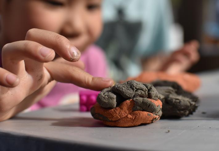 子どもたちと粘土のワークショップ