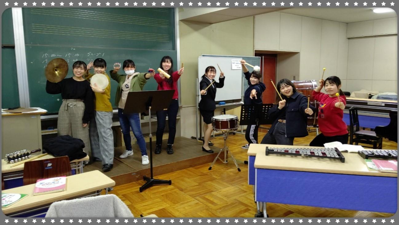 授業紹介【保育内容・音楽表現Ⅱ】~合奏編~