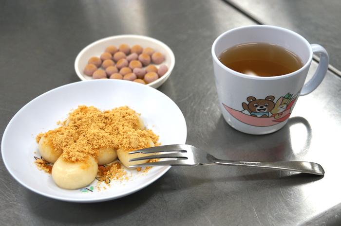 地域の食材、白玉粉を使った調理実習 「子どもの食と栄養Ⅱ」