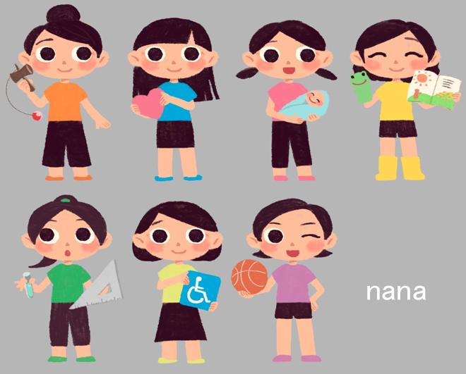 児童学部のイメージキャラクター「ななちゃん」誕生!