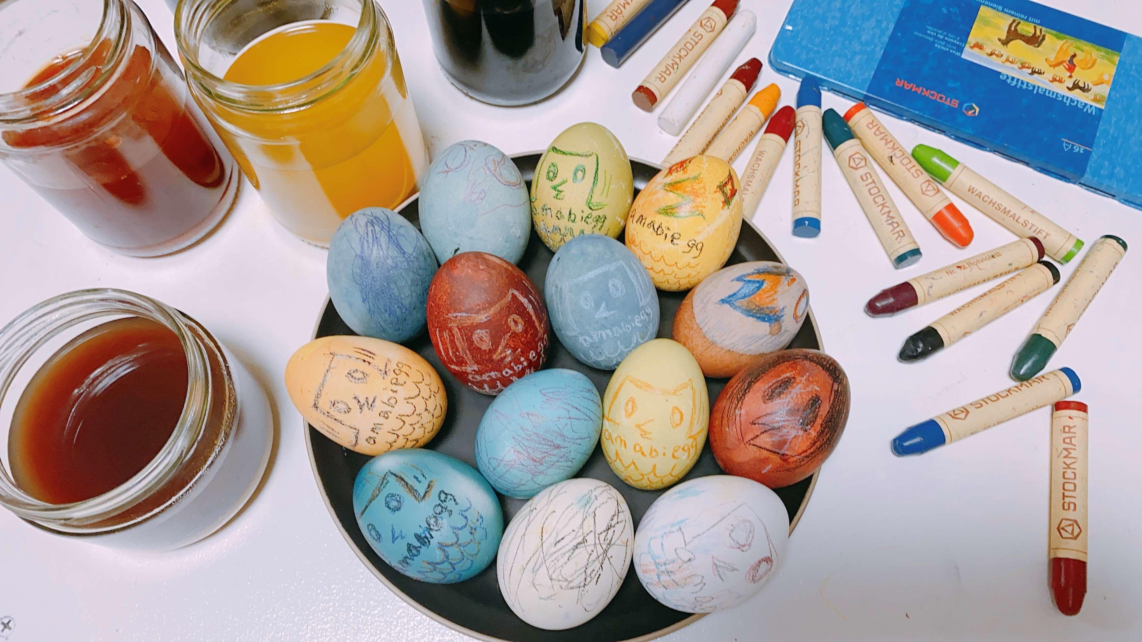 【おうち時間をたのしもう】⑦ 卵を染めて描くアマビエッグ