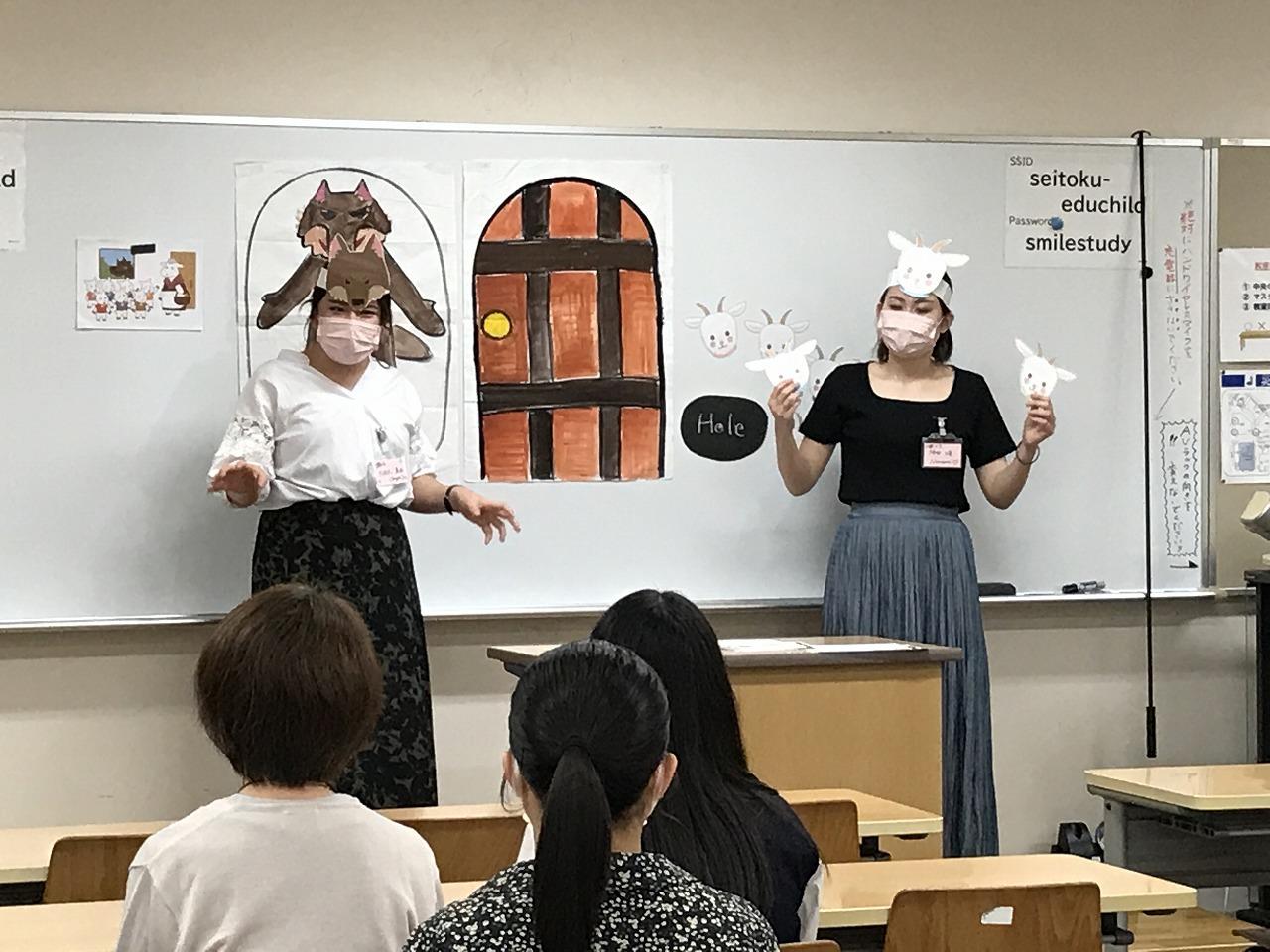 高校生に小学校英語の模擬授業を披露!