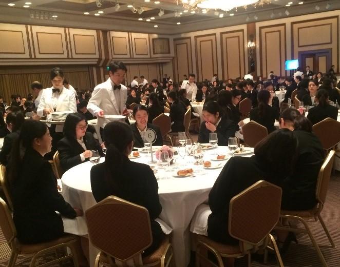 帝国ホテルにて、『平成29年度 聖徳大学 フランス料理会食とテーブルマナーを学ぶ会』開催!