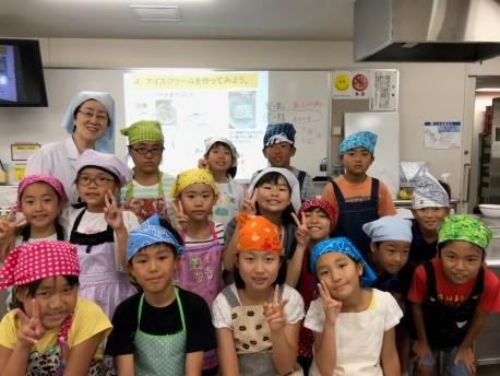 夏休み 子どものための講座(SOA企画) おもしろい食の科学「牛乳や生クリームから何ができるかな?」