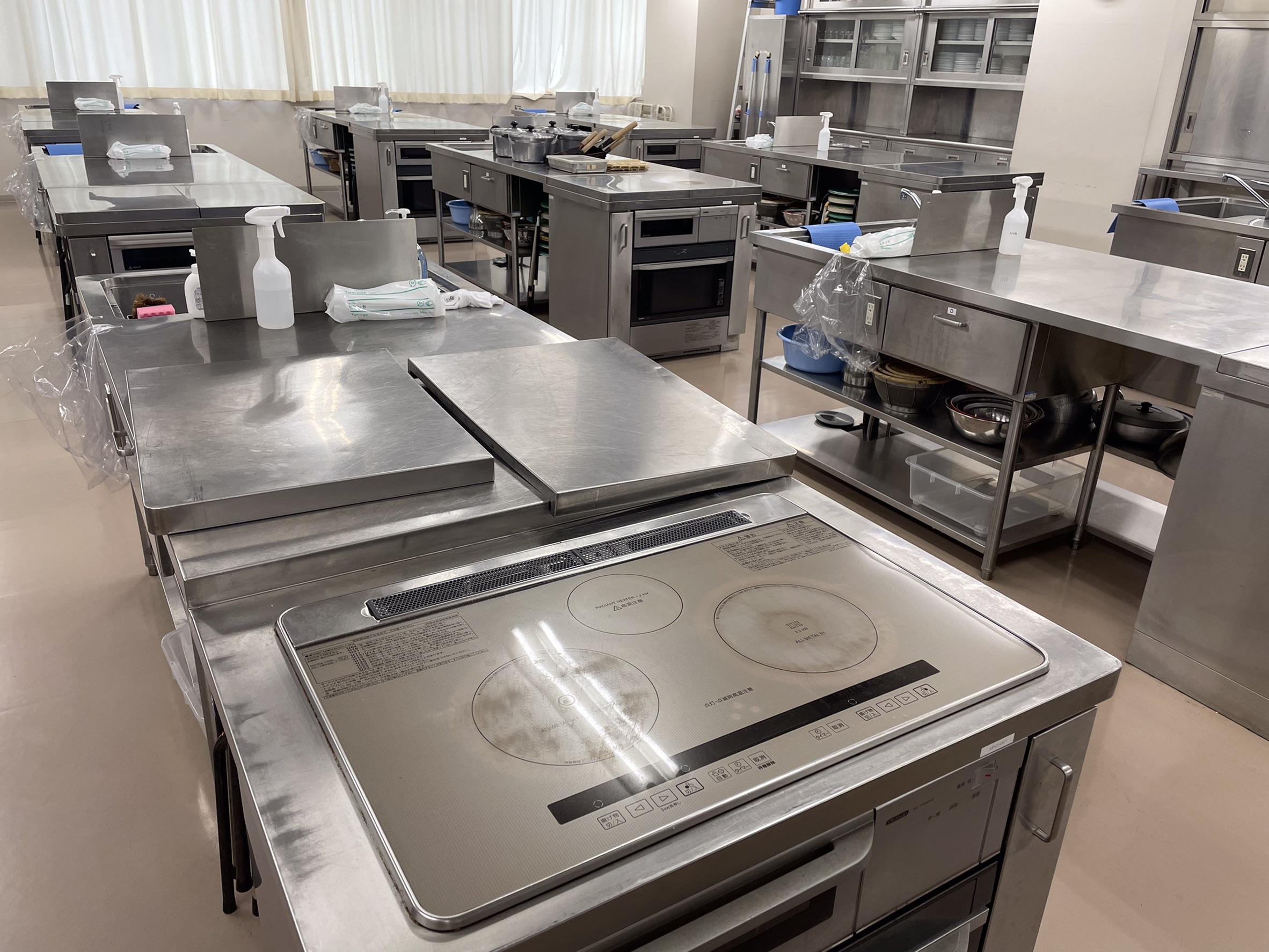 【キャンパス紹介】大学の調理室を見てみよう!