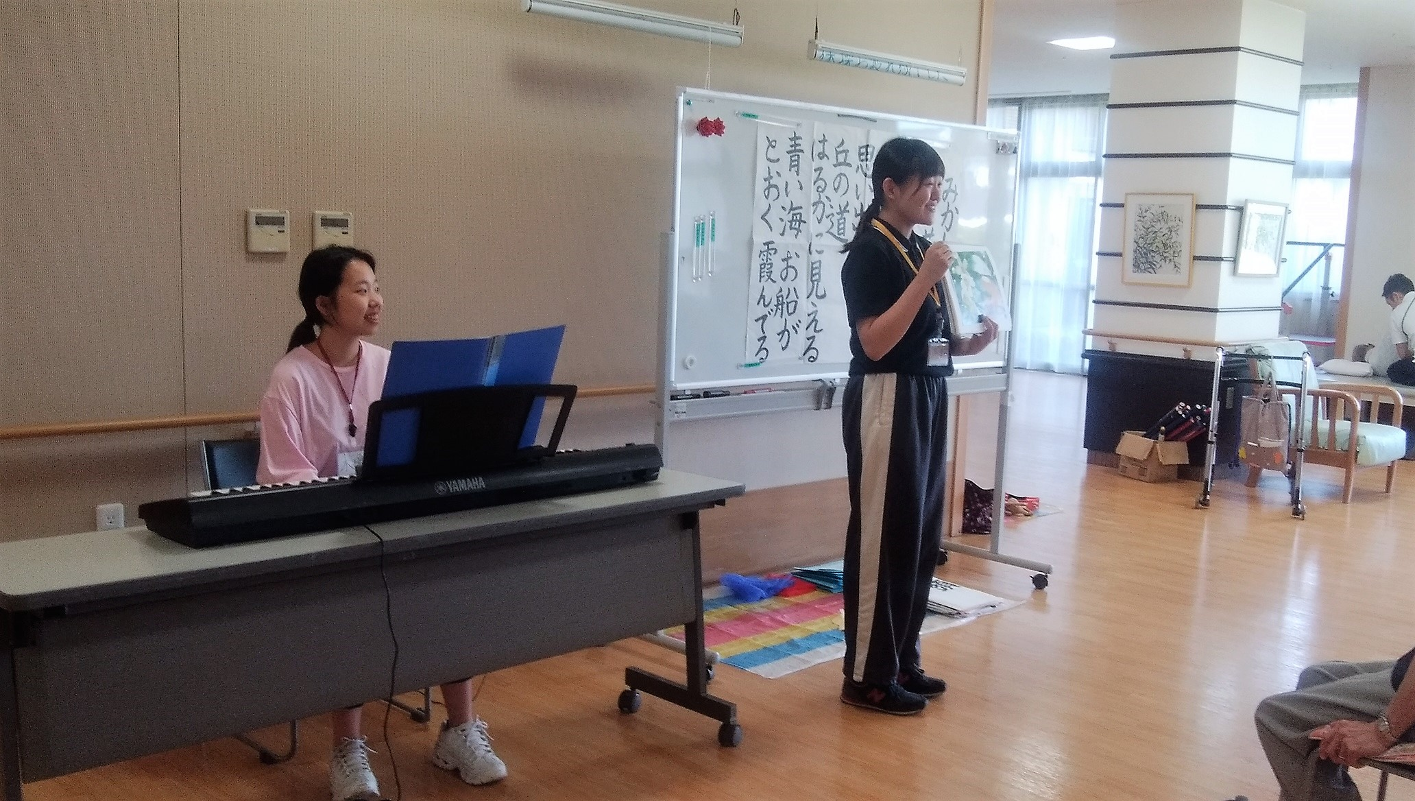音楽療法の現場で実習~参加する方々の機能を最大限引き出す~