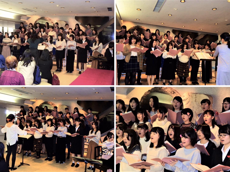 お客様に音楽をお届けしました!~「聖徳祭」で学生たちが活躍~