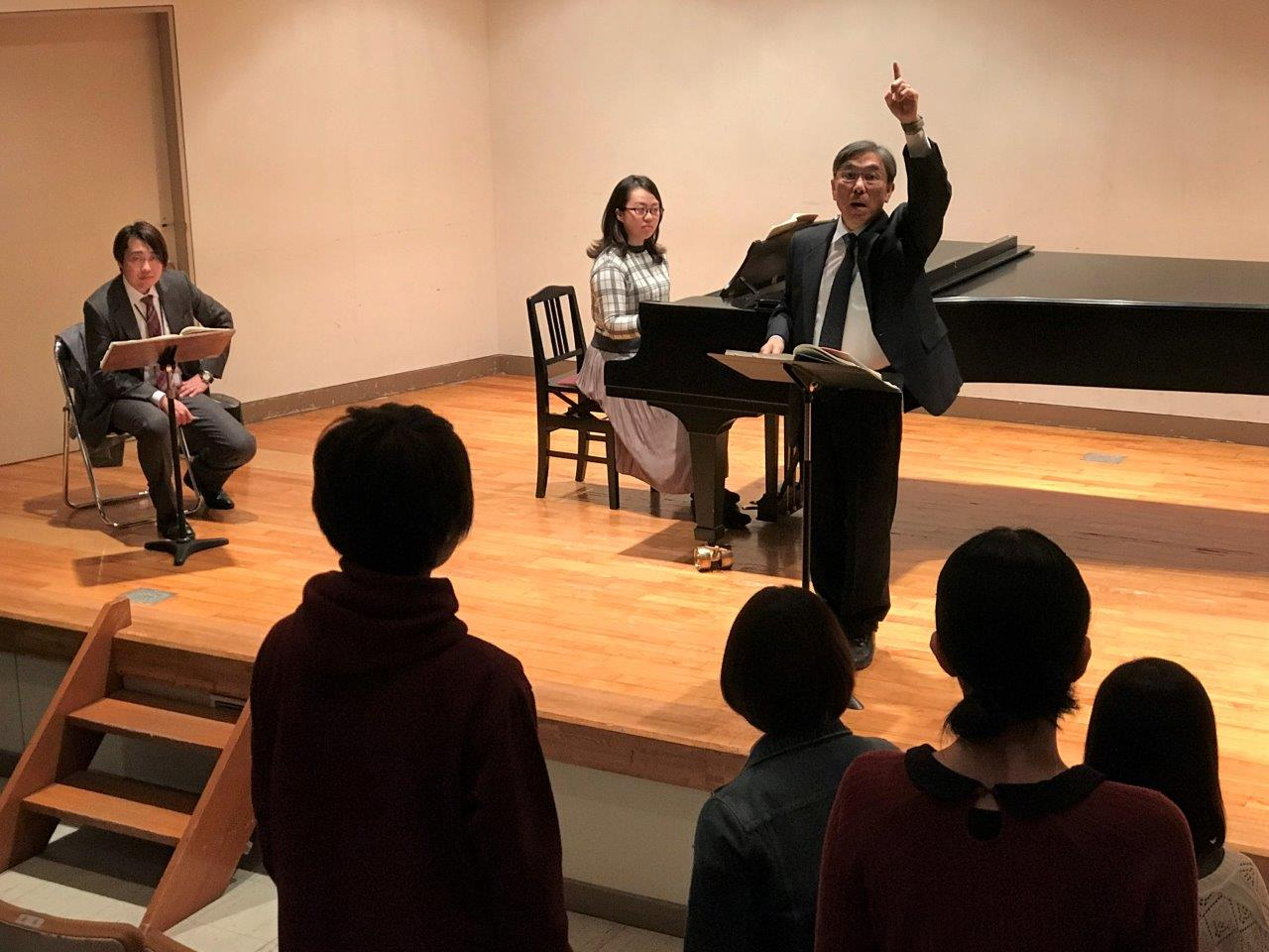 「第九」公演に向けて、本番指揮者による稽古が行われました!
