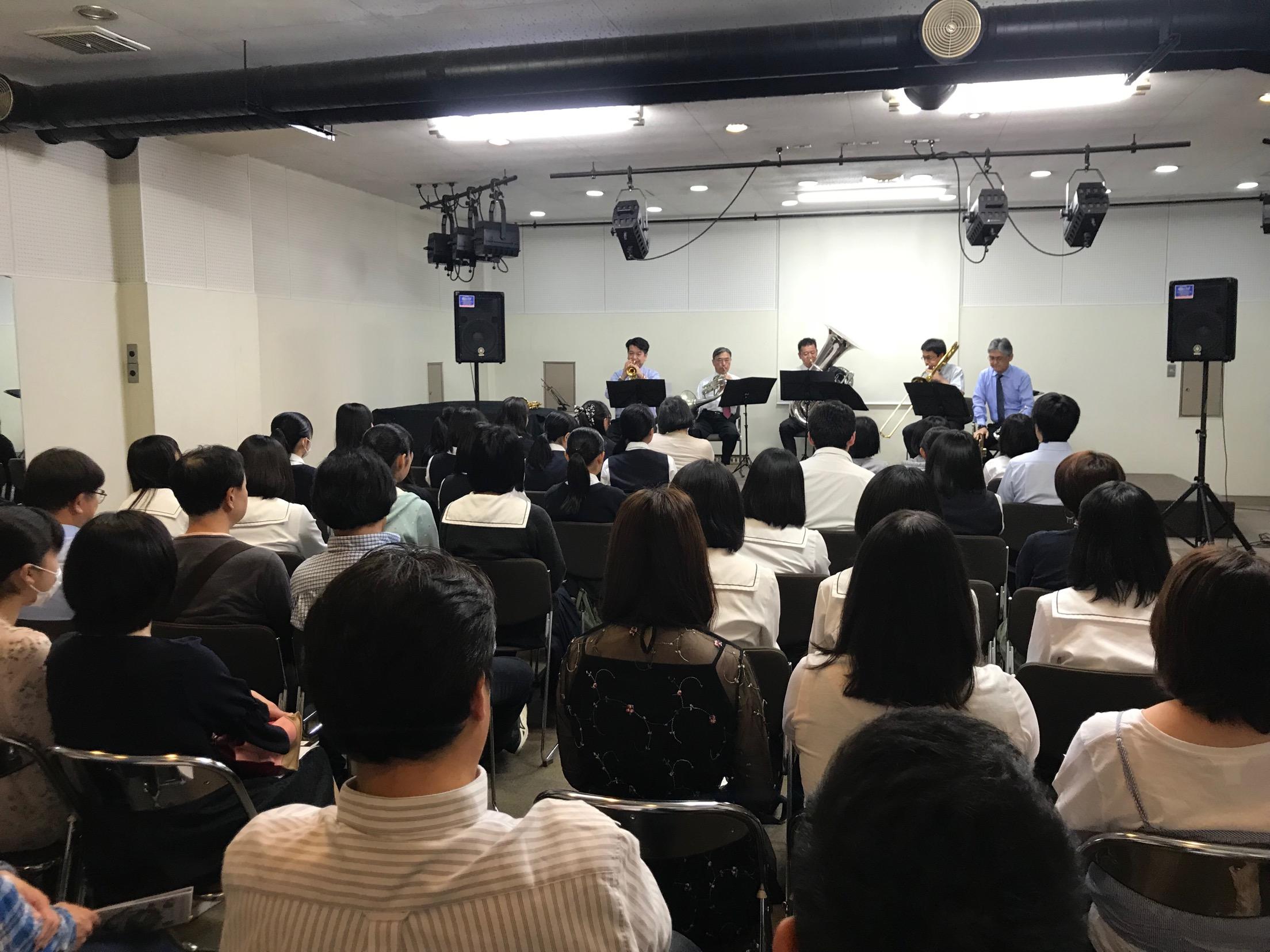 佐野市で「聖徳大学教員による金管五重奏コンサート&クリニック」が開催されました!