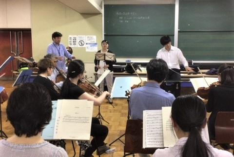 オーケストラと一緒に演奏できる喜び♪~今年もコラボ授業が展開されています~