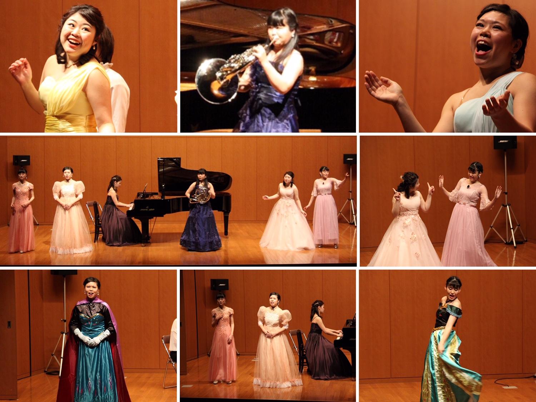 私たち演奏学科の出演者は、専門が多岐にわたります。そのため、この日のプログラムはミュージカル、声楽、ホルン独奏、作品発表、合唱と盛りだくさん。4年間の学びの中のお気に入りの曲を伸びやかに演奏することができました。