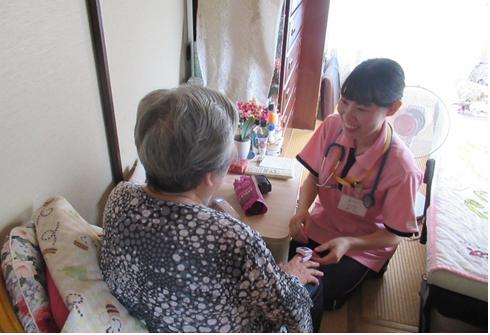 待っている人達の生活の場へ、初めての訪問看護です!!