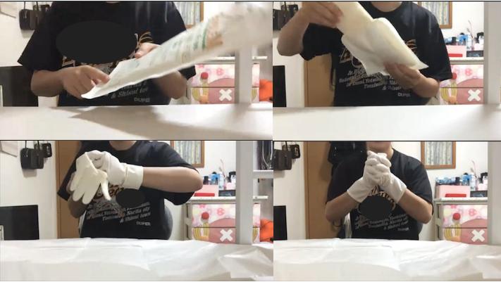 2年生看護技術論Ⅱオンライン演習:「滅菌手袋の着脱・無菌操作」