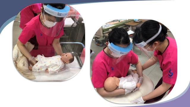 母性看護学援助論  授業紹介 初めての赤ちゃん抱っこ!