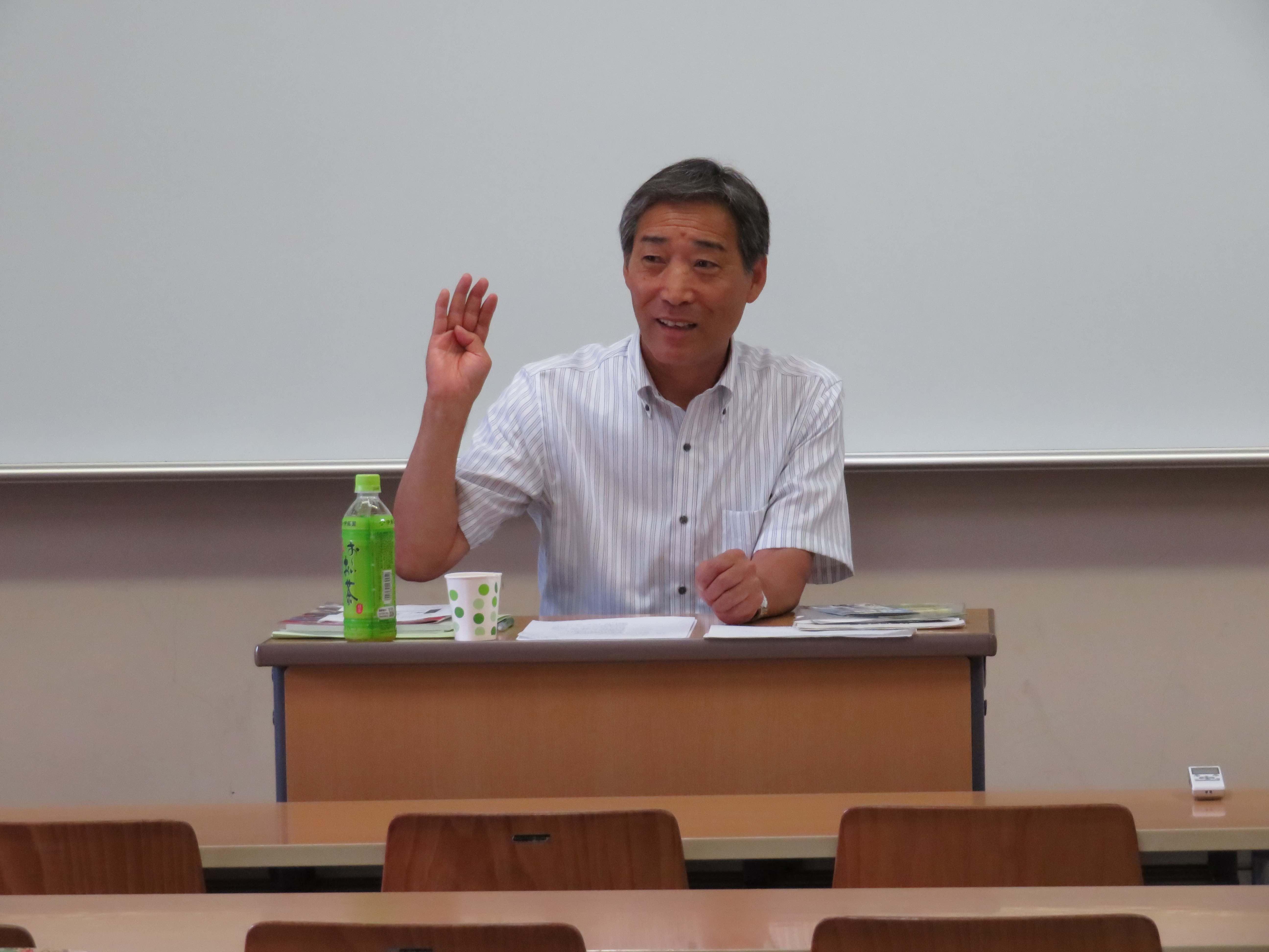 心理学科フィールド学習内で消防・防災心理学入門講演会を開催しました