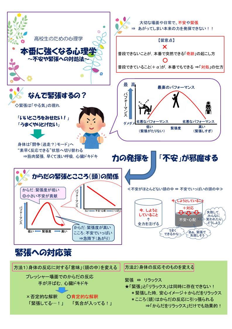 受験に役立つ心理学①~受験生応援ブログ~ 『試験で緊張しない方法!?』